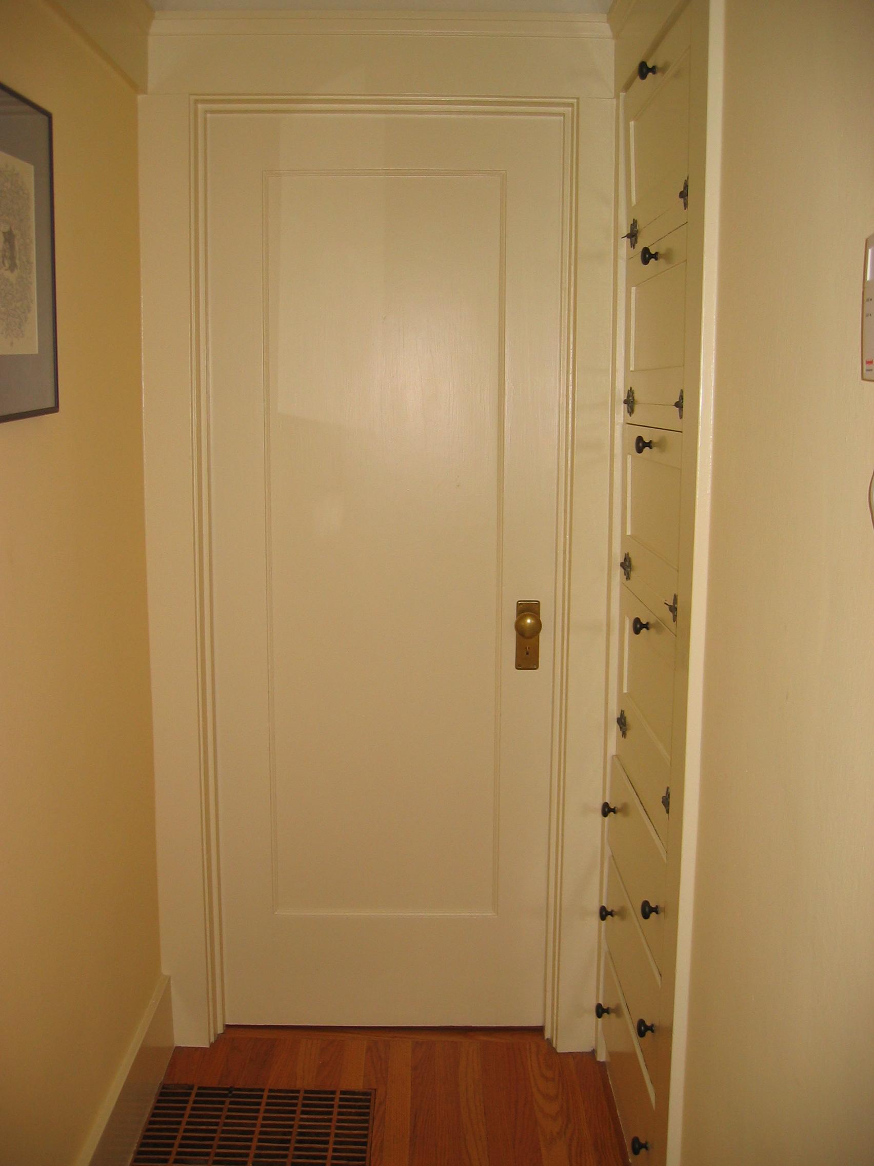 Hallway door asian hallway with mahogany shaker glass for Hallway door ideas
