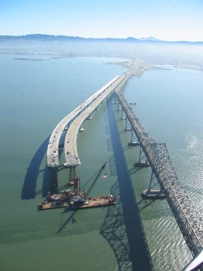 The new east span in 2007