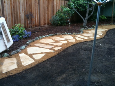 The new garden path!